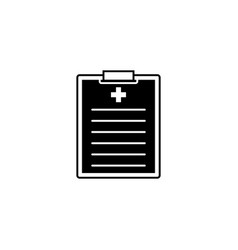 medical clipboard solid icon medical form vector image vector image