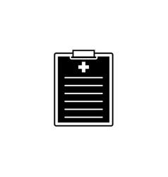 Medical clipboard solid icon medical form vector