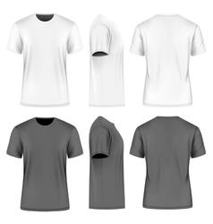 Men short sleeve round neck t-shirt vector image vector image
