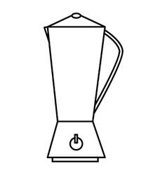 Metal electric kettle icon outline style vector image