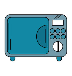 Microwave electric appliance design vector