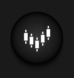 Modern binary options black circle icon vector