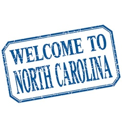 North carolina - welcome blue vintage isolated vector