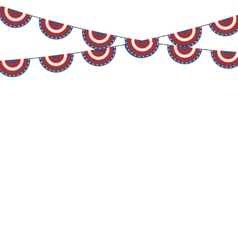 Patriotic symbolic decoration for holiday Usa vector image