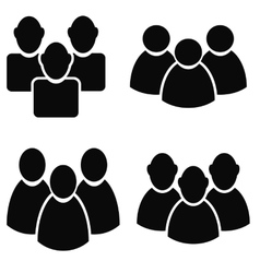 People talking icon set vector