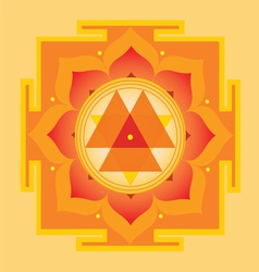 Sacred Geometry Durga yantra vector image vector image