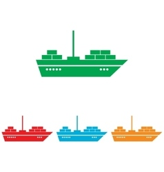 Ship sign colorfull set vector