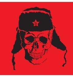 skull Fur cap vector image vector image