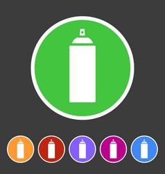 Spray can color icon icon flat web sign symbol vector
