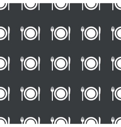 Straight black tableware pattern vector image vector image