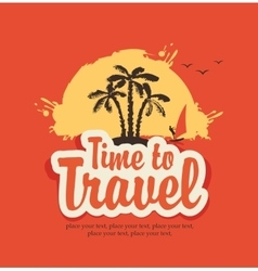 Time to travel vector image