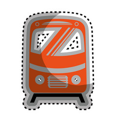 Tram vehicle isolated icon vector