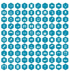 100 mirror icons sapphirine violet vector