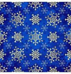 Seamless dark blue christmas pattern vector