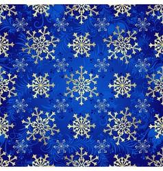 Seamless dark blue christmas pattern vector image