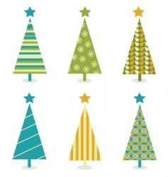 Funky retro christmas tree design vector