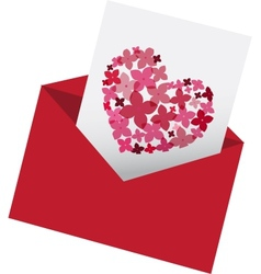 Envelop with love letter vector