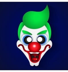 Funny clown celebration vector