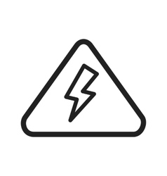 Electricity danger vector