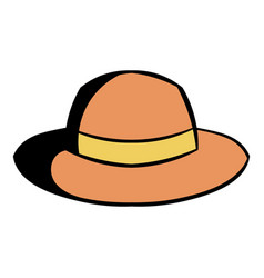 Hipster hat icon cartoon vector