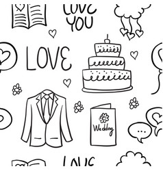 Doodle of wedding style vector