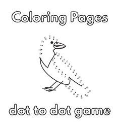 cartoon crow coloring book vector image