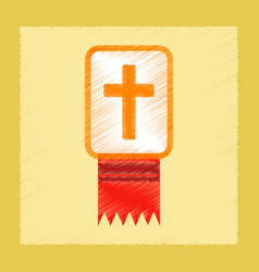 Flat shading style icon bible book vector