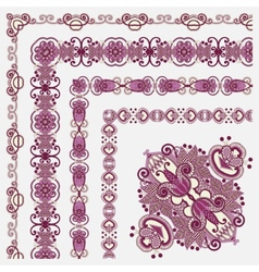 Floral vintage frame designall components are easy vector