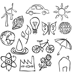 Environment sketch images vector