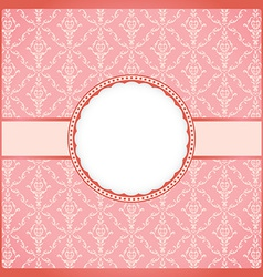 Pink round vintage frame vector image