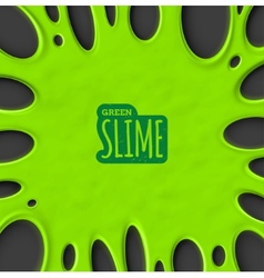 Green slime vector