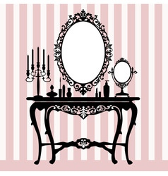 retro dressing console vector image