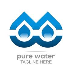 pure water drop symbol icon liquid vector image