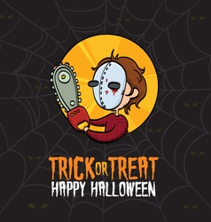 Halloween trick or treat killer costume vector