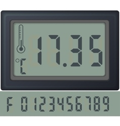 Digital count clock watch with different numbers vector