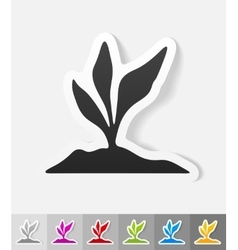 Realistic design element root-crop vector