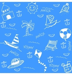 Funny doodle art for summer vector image