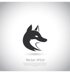 Stylized fox head icon vector