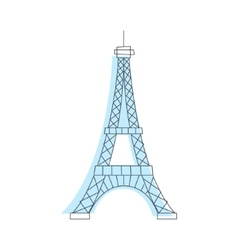 Eifel tower monument in paris vector