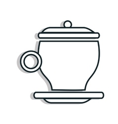 Coffee time theme design vector