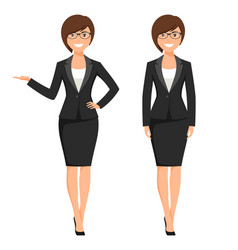 a young businesswoman vector image vector image