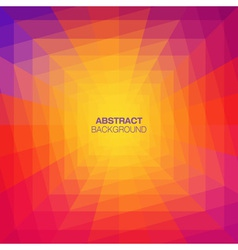 Abstract colorful geometric tunnel background vector