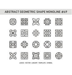 Abstract geometric shape monoline 69 vector