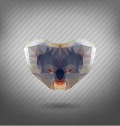 abstract triangle polygonal koala abstract vector image vector image