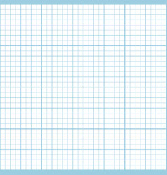 Blue inch graph paper seamless pattern vector