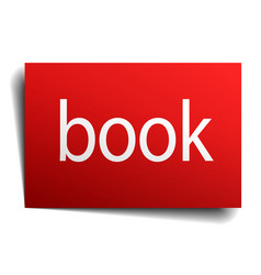 Book red paper sign isolated on white vector