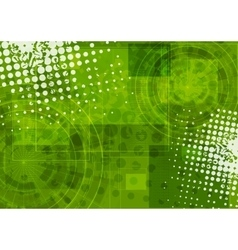 Bright green grunge tech background vector