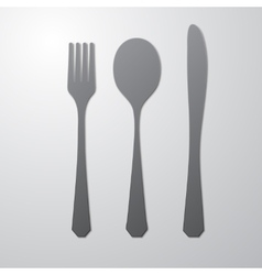 Cutlery gray vector image