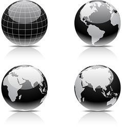 Earth icon set vector image