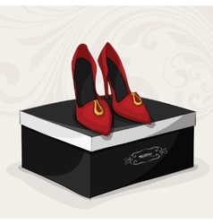Fashion womans red shoes vector image vector image